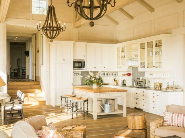 cape kidnappers cottage open kitchen