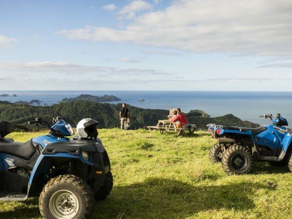 kauri cliffs quad biking