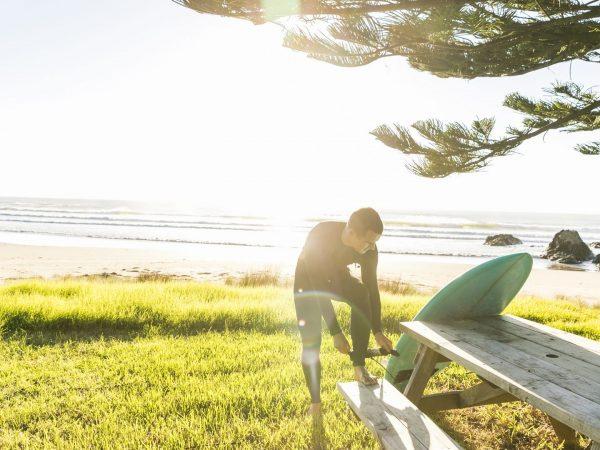 kauri cliffs surfing