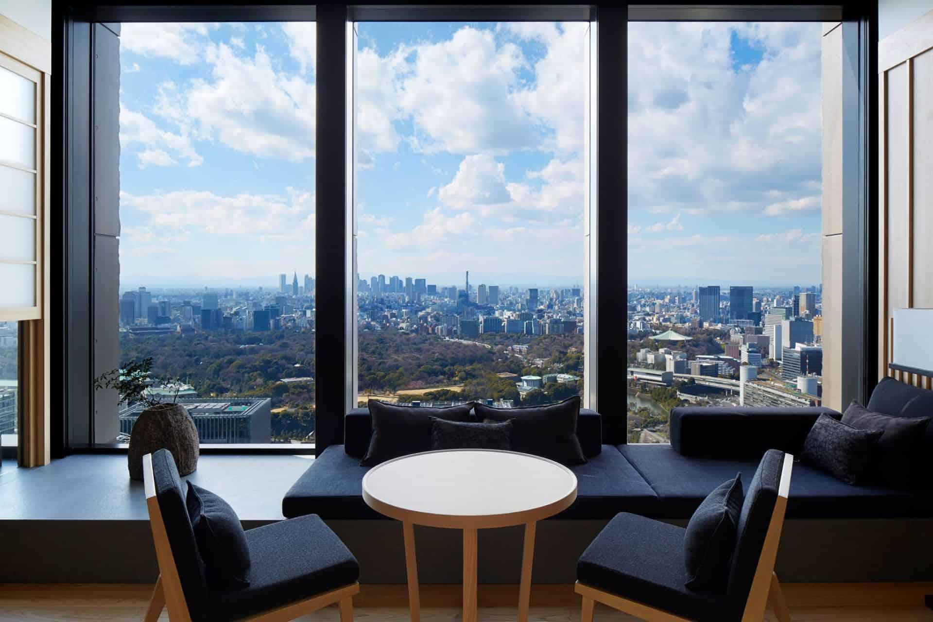 Aman Tokyo Lobby seating