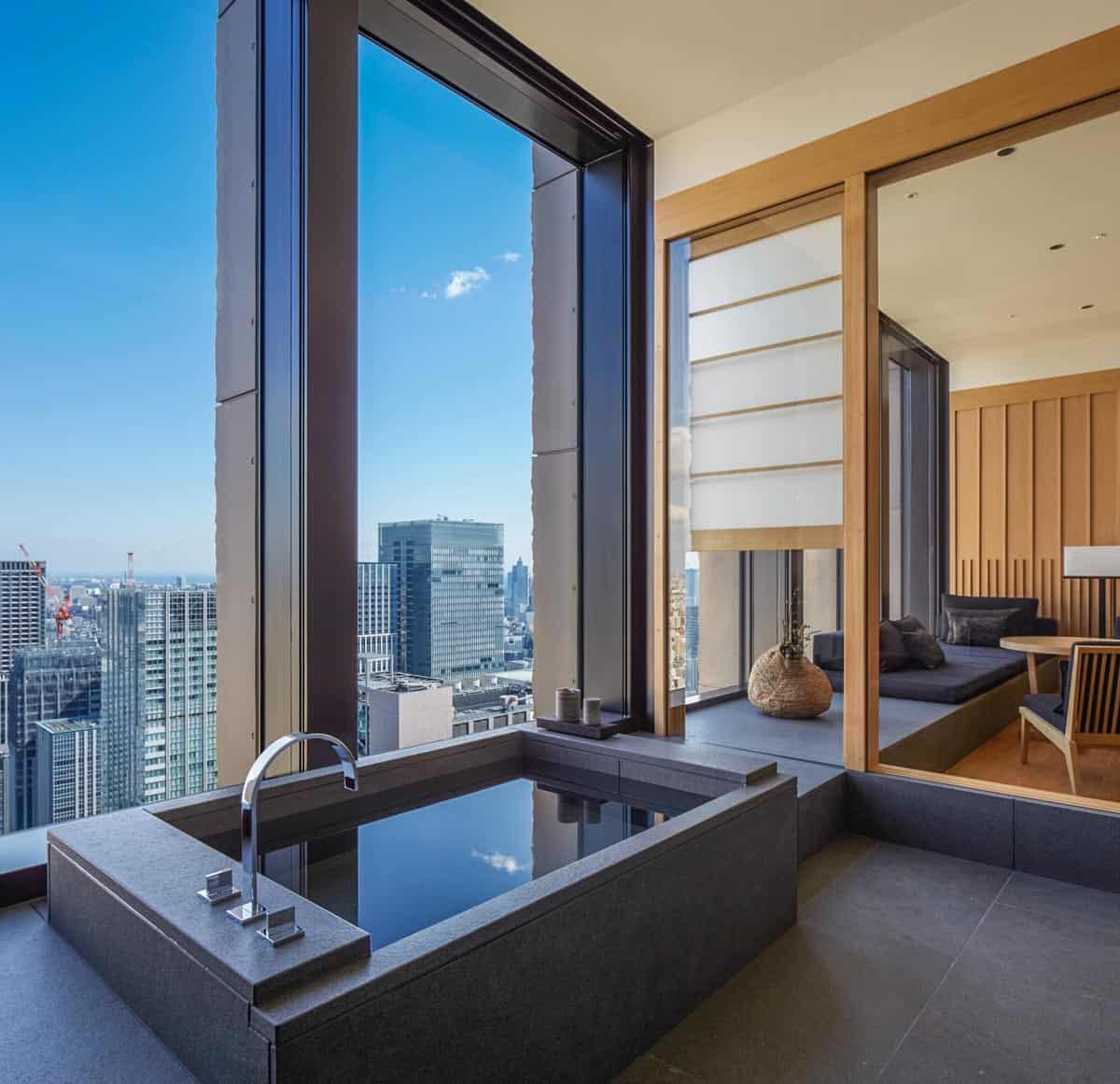 Aman Tokyo soaking bathtub