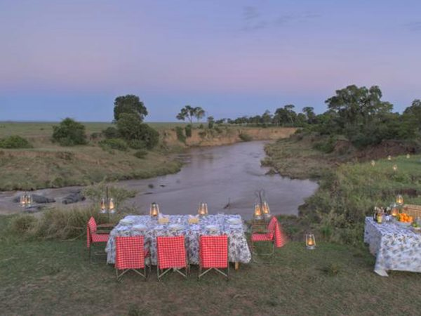 AndBeyond Kichwa Tembo Tented Camp Bush dinner