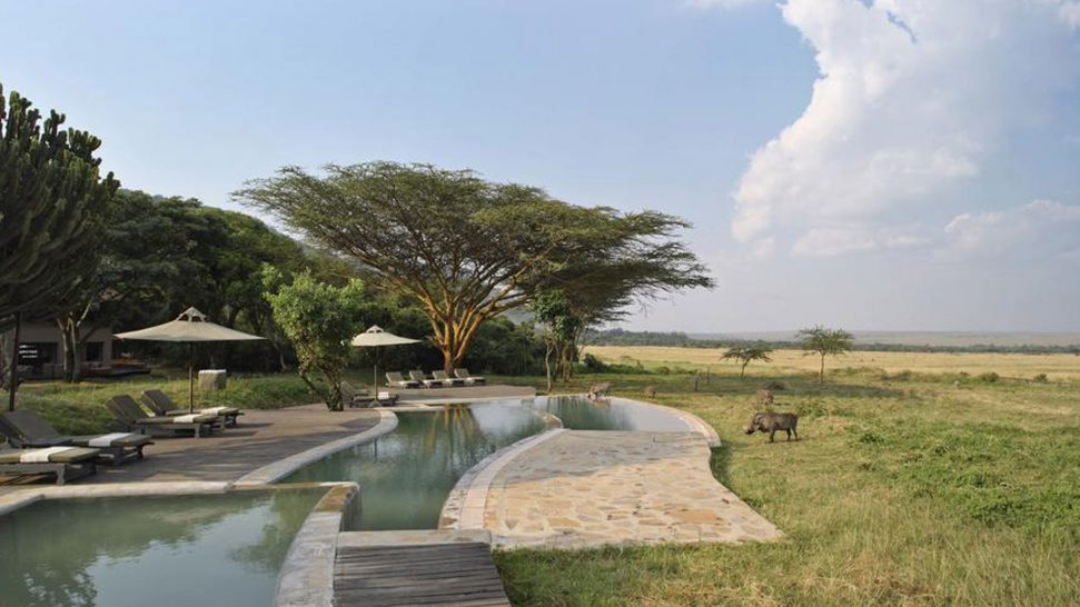 AndBeyond Kichwa Tembo Tented Camp pool view