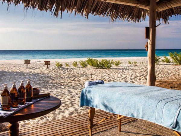 AndBeyond Mnemba Island Lodge beach spa