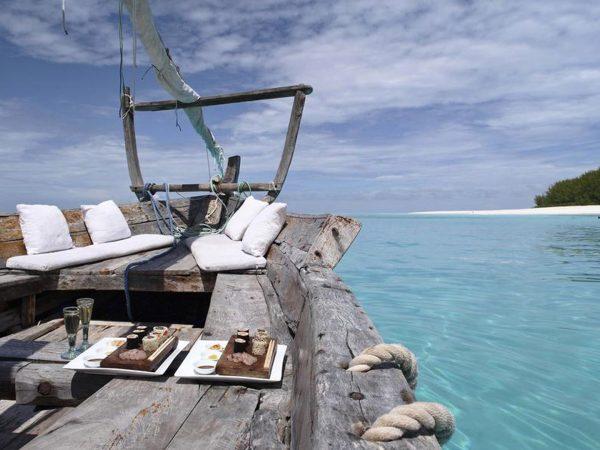 AndBeyond Mnemba Island Lodge dhow cruise