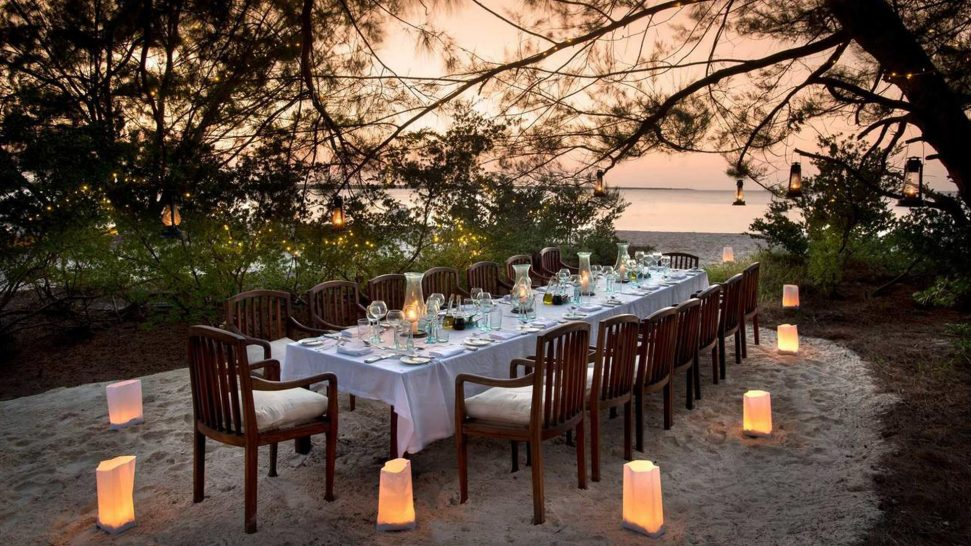 AndBeyond Mnemba Island Lodge dining