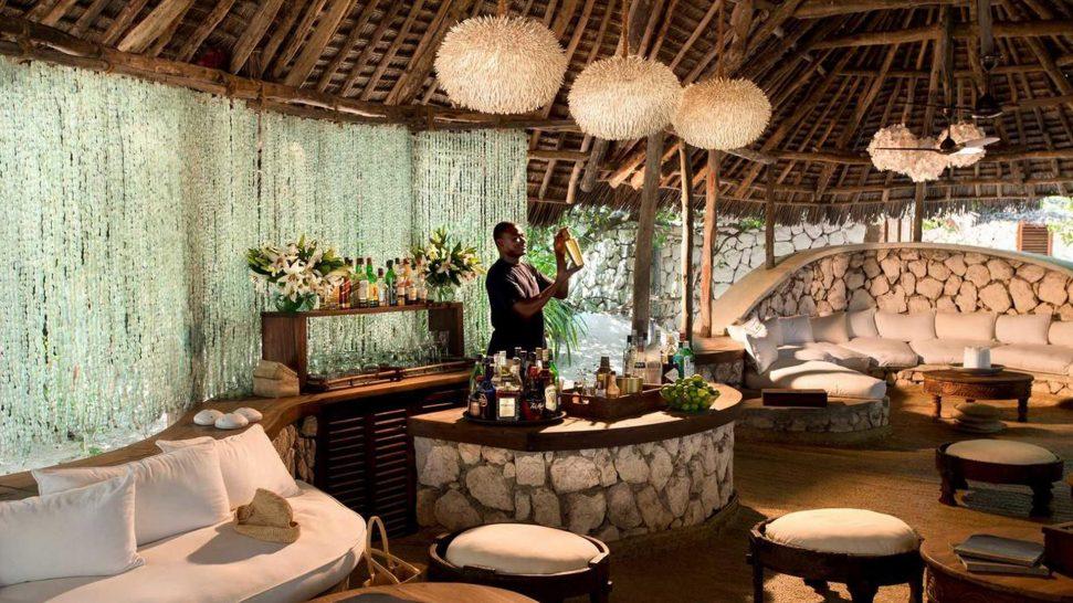 AndBeyond Mnemba Island Lodge bar
