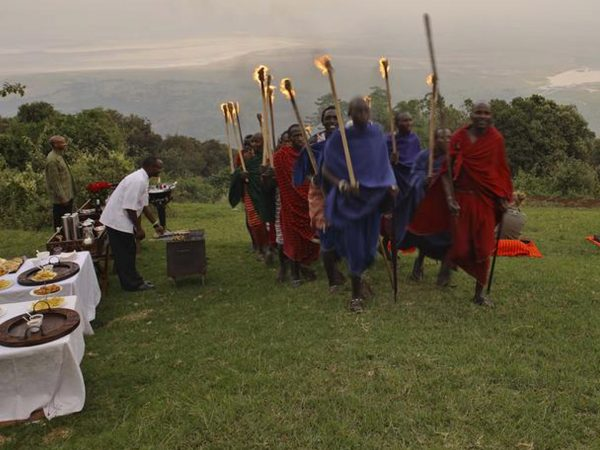 AndBeyond Ngorongoro Crater Lodge African Drummers