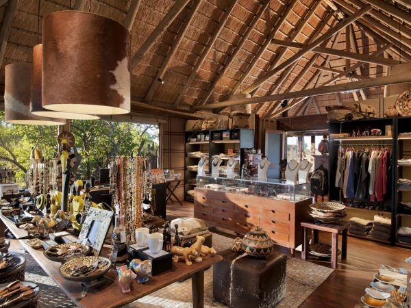 AndBeyond Nxabega Okavango Tented Camp Shop Area