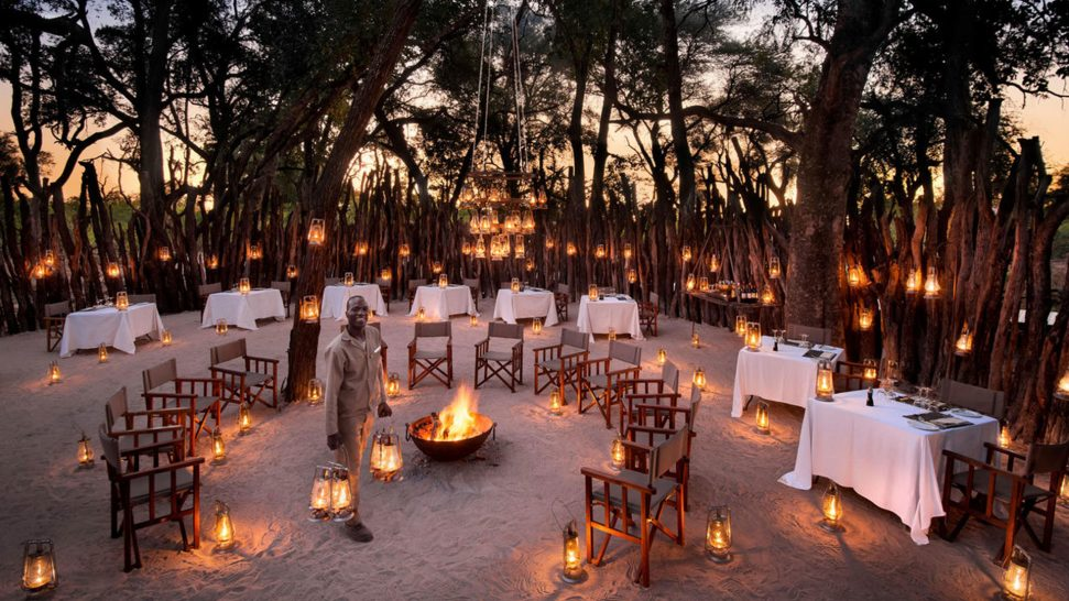 AndBeyond Nxabega Okavango Tented Outside Dinner