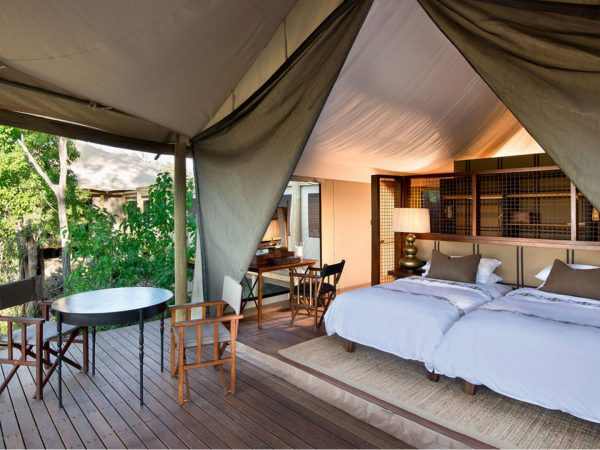 AndBeyond Nxabega Okavango Tented family suite interior