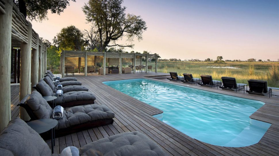 AndBeyond Nxabega Okavango Tented Camp Pool
