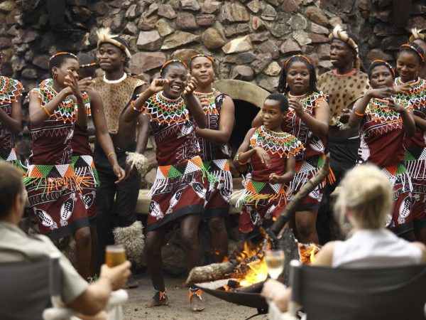 AndBeyond Phinda Forest Lodge Zulu Dancers Phinda Rock