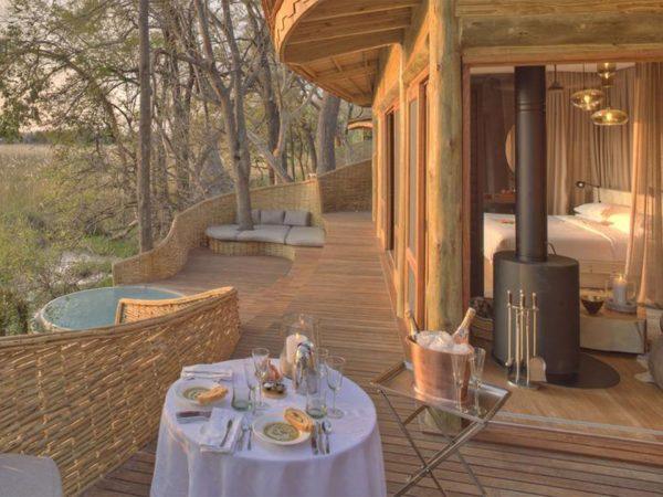 AndBeyond Sandibe Okavango Safari Lodge Area