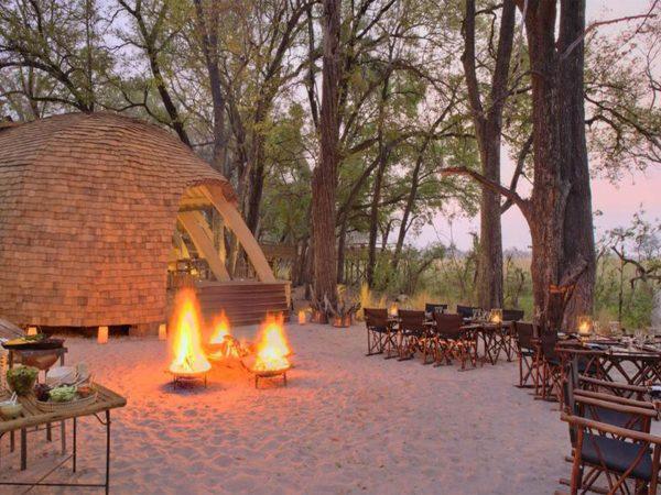 AndBeyond Sandibe Okavango Safari Lodge Food Area