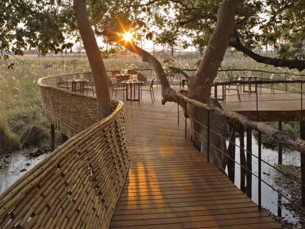 AndBeyond Sandibe Okavango Safari Lodge Guest Area Sunset View