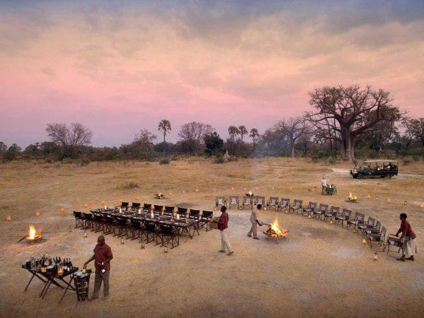 AndBeyond Sandibe Okavango Safari Lodge Dinner