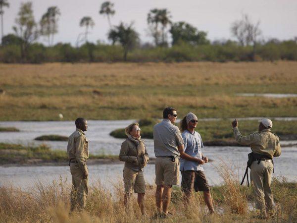 AndBeyond Sandibe Okavango Safari Lodge walking Safari