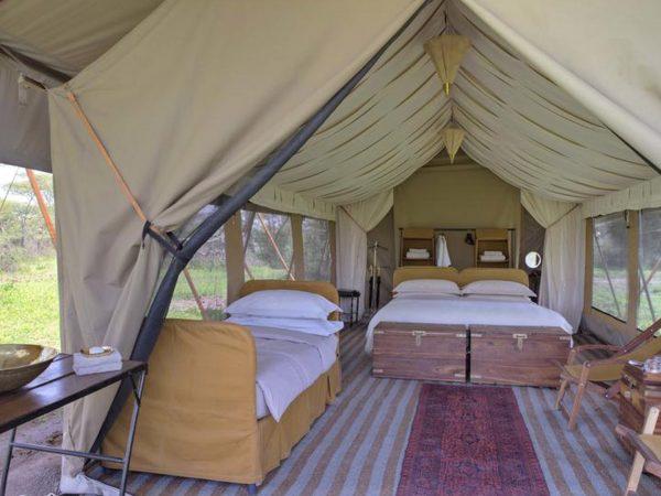 AndBeyond Serengeti Under Canvas bedroom