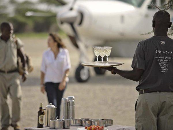 AndBeyond Serengeti Under Canvas drink