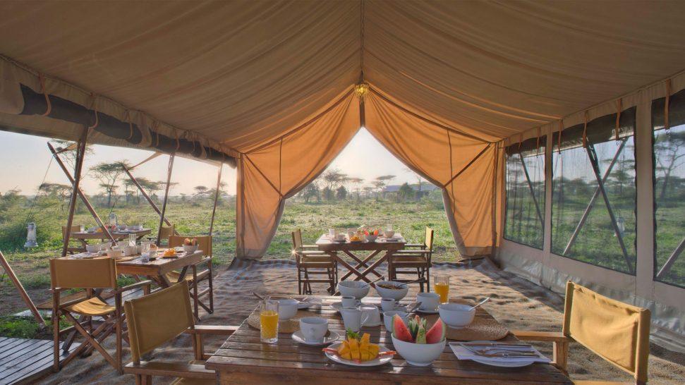 AndBeyond Serengeti Under Canvas food