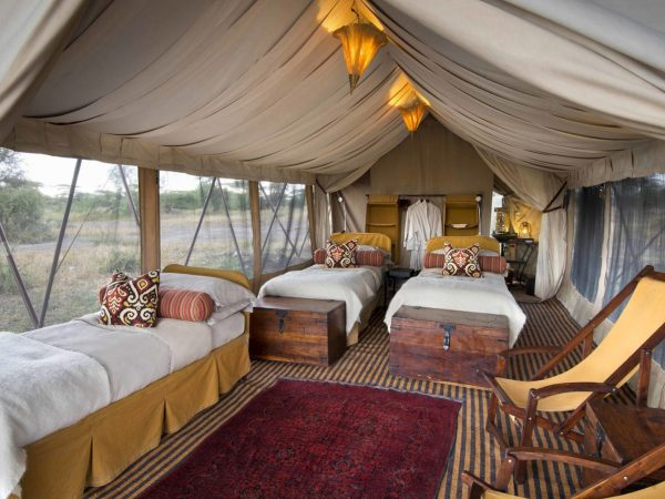 AndBeyond Serengeti Under Canvas guest tent twin