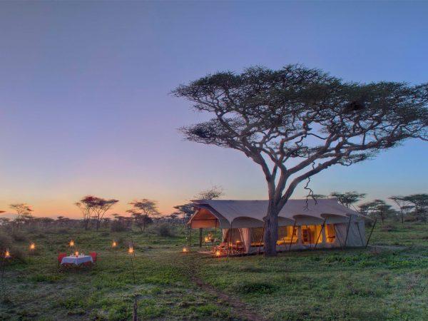 AndBeyond Serengeti Under Canvas tent exterior