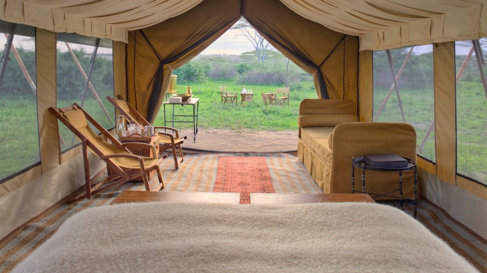 AndBeyond Serengeti Under Canvas tent view