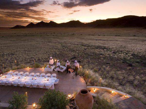 AndBeyond Sossusvlei Desert Lodge dining