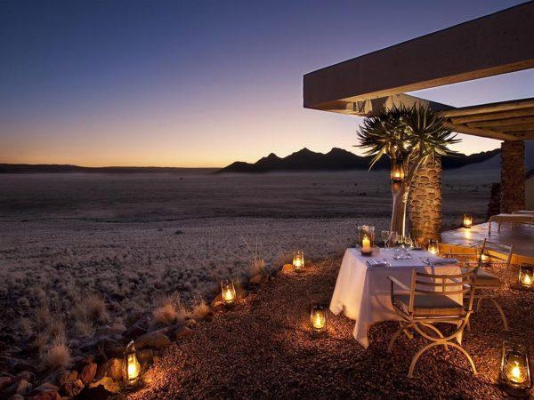 AndBeyond Sossusvlei Desert Lodge private dining