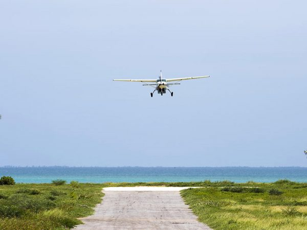 AndBeyond Vamizi Island airstrip arrival