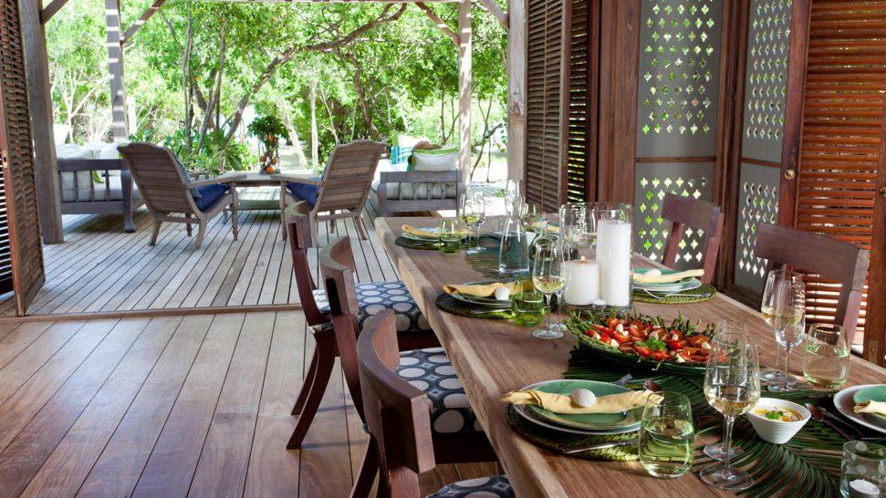 AndBeyond Vamizi Island dining