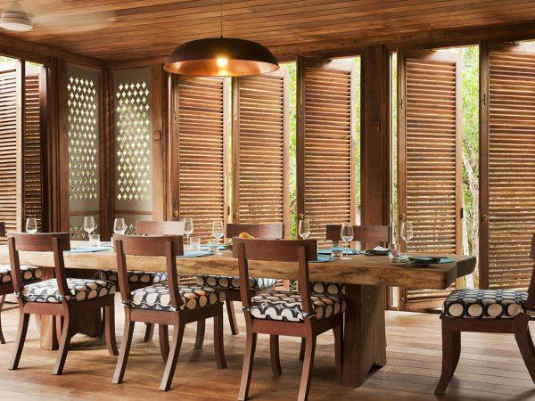 AndBeyond Vamizi Island dining area