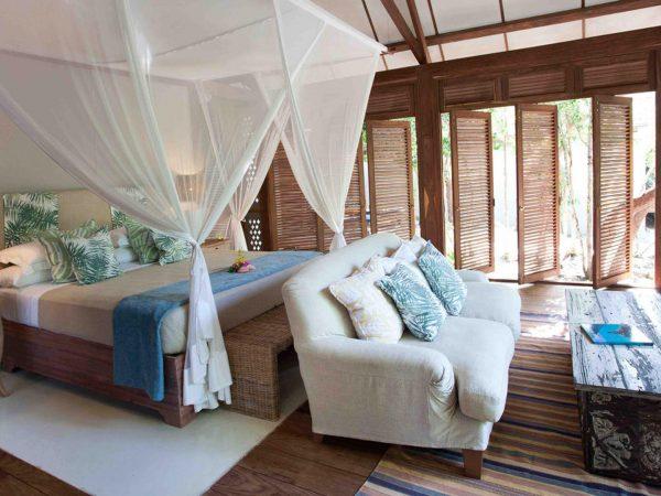 AndBeyond Vamizi Island kipila bedroom
