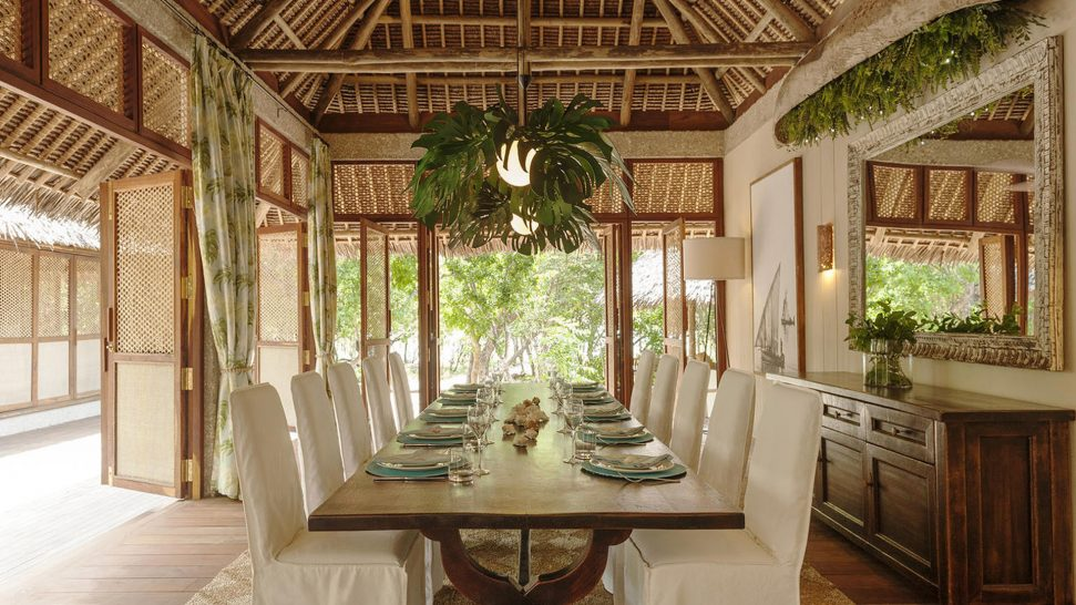 AndBeyond Vamizi Island papilio dining area