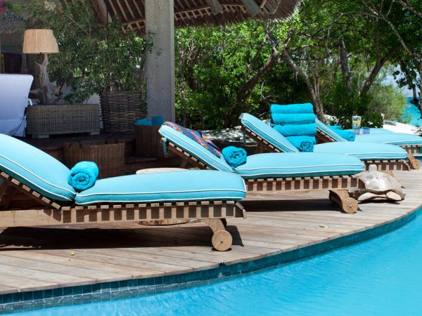 AndBeyond Vamizi Island pool loungers