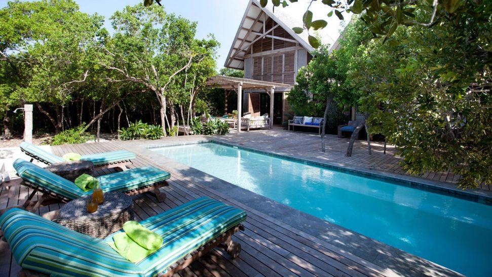 AndBeyond Vamizi Island swimming pool and loungers