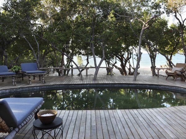 AndBeyond Vamizi Island swimming pool with ocean view