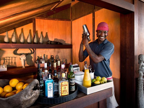 AndBeyond Xudum Okavango Delta Lodge Bar Area