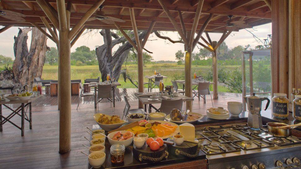 AndBeyond Xudum Okavango Delta Lodge Food