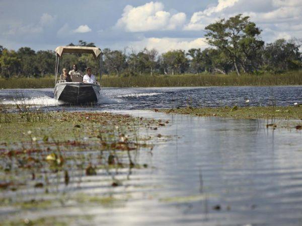 AndBeyond Xudum Okavango Delta Lodge Motorized Boat Excursions