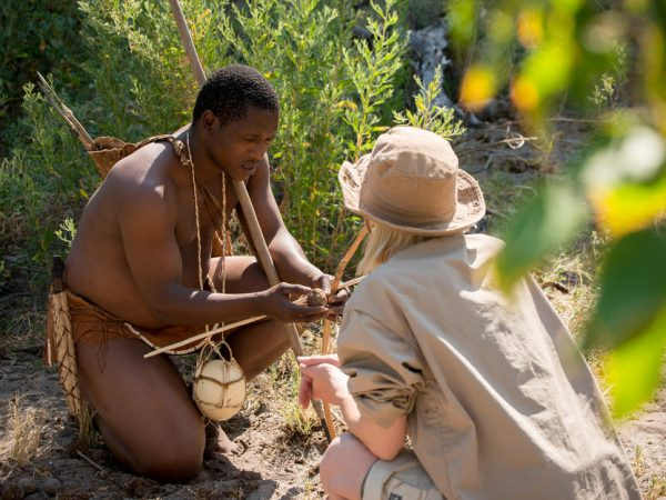 AndBeyond Xudum Okavango Delta Lodge bushmen