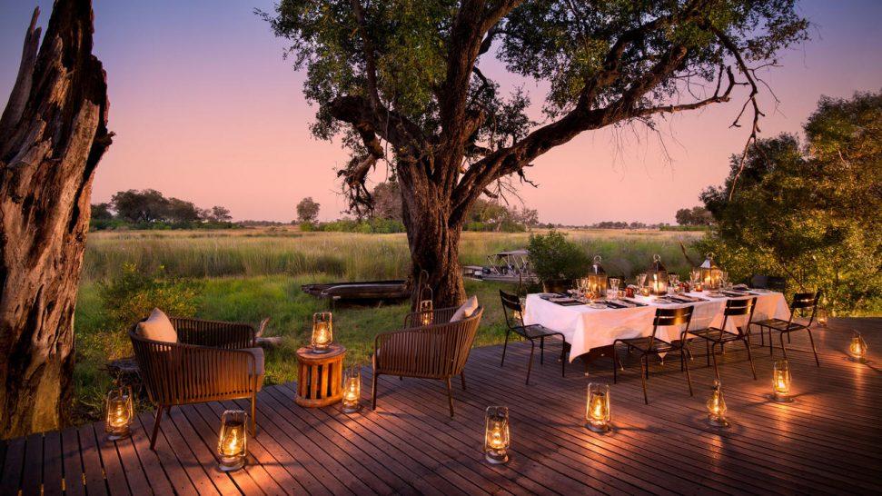 AndBeyond Xudum Okavango Delta Lodge outdoor dining