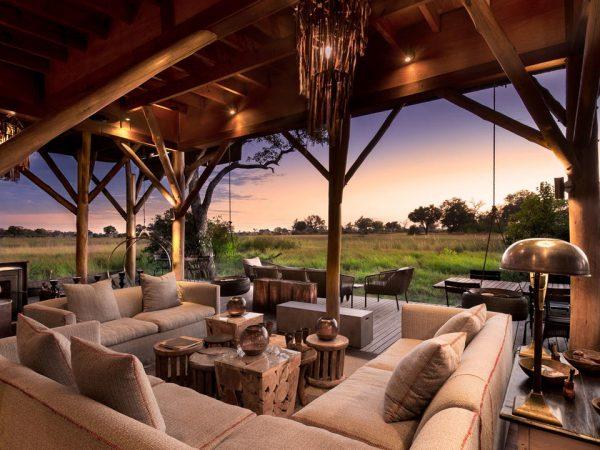 AndBeyond Xudum Okavango Delta Lodge undercover lounge