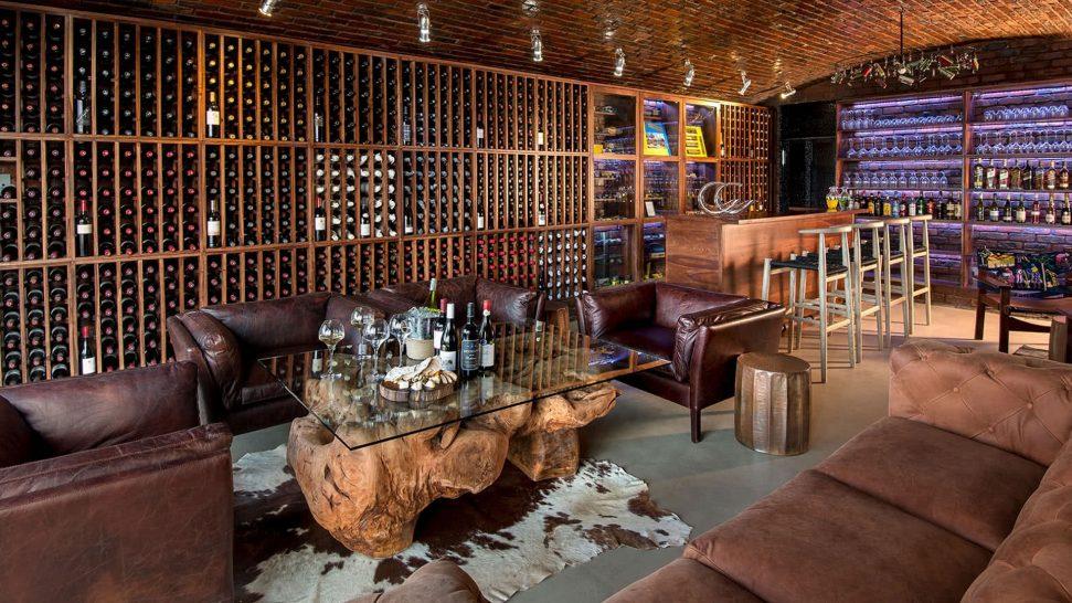 Andbeyond matetsi River lodge wine cellar