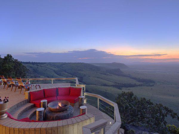 Angama Mara fireplace