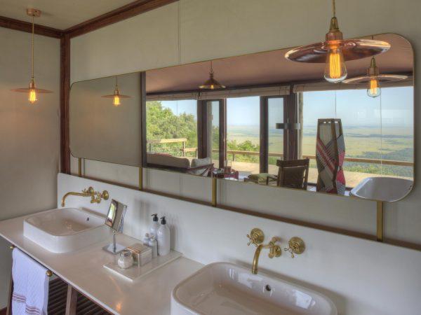 Angama Mara Tented Suite Bathroom