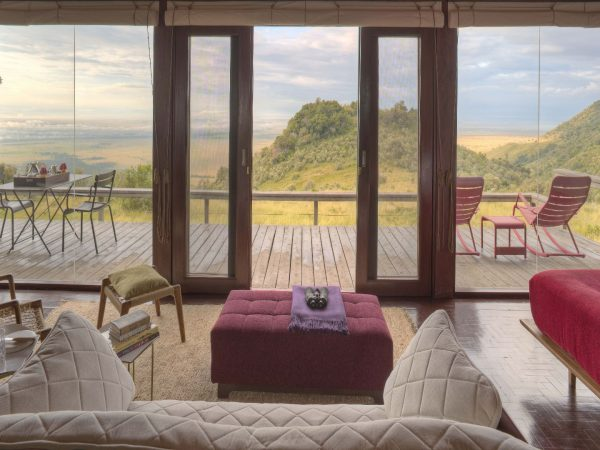 Angama Mara Tented Suite Forest view