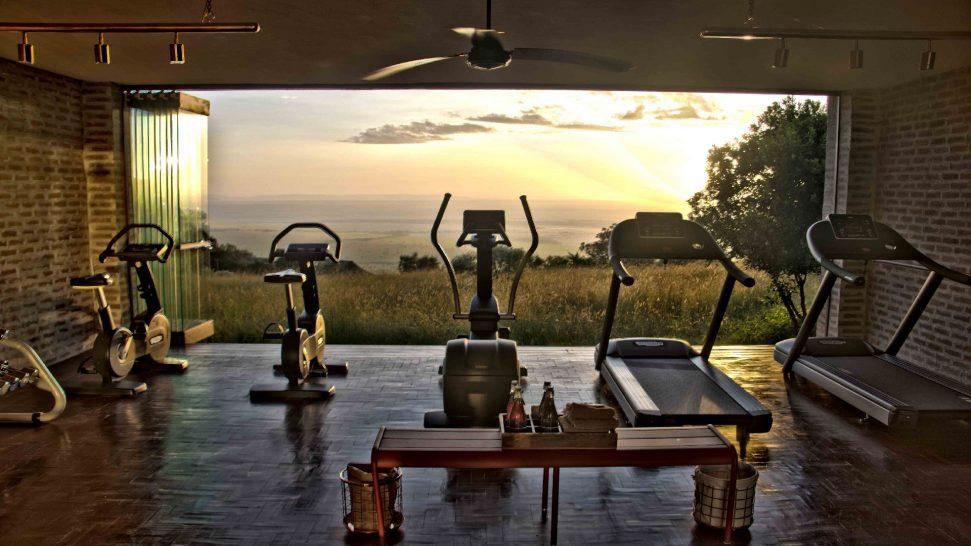 Angama Mara fitness room