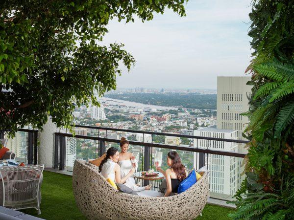 Banyan tree bangkok garden view